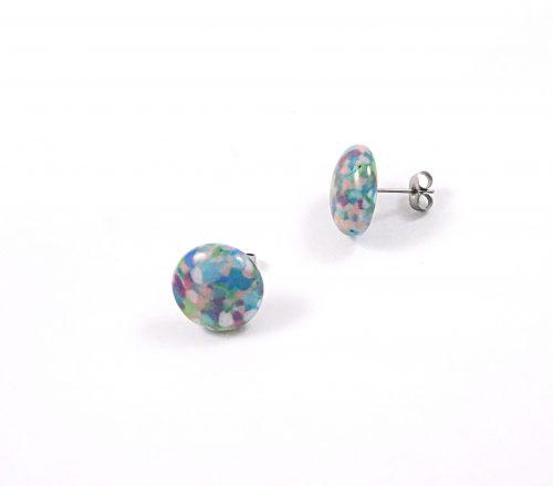 Pebble Glass Stud Earrings