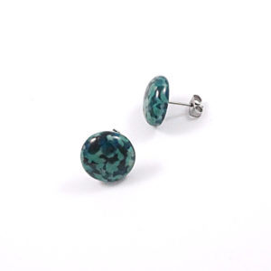 Large Pebble Glass Stud Earrings – D