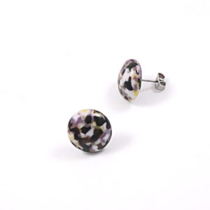 Large Pebble Glass Stud Earrings – B